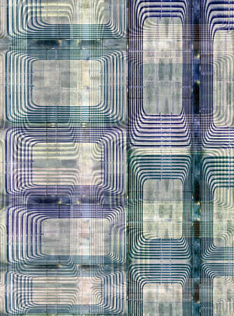 Abstract image of striped rectangles
