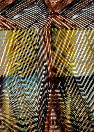 Abstract design of stripes and angles