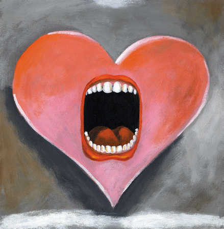 Heart with yelling mouth