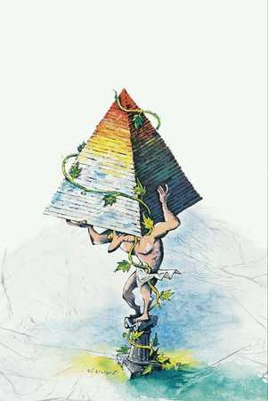 Man Lifting Pyramid
