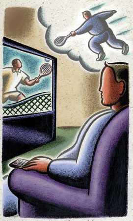 Lazy Individual Watching TV