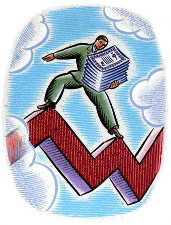 Investor On Stock Line