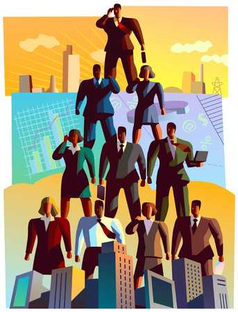 Pyramid Of Businesspeople