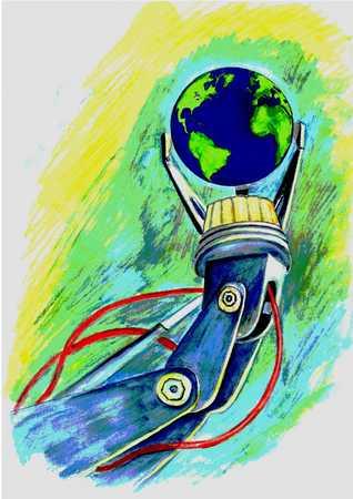 Globe In Mechanical Device