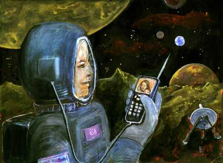 Astronaut With Hand Held Technology