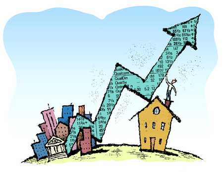Investor Holding Stock Arrow