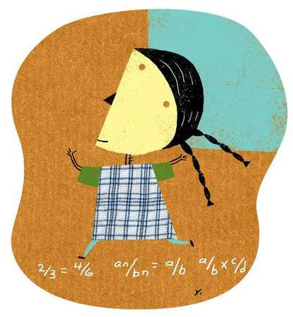 Girl Learning Math