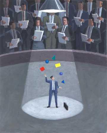 Businessman Juggling Ideas