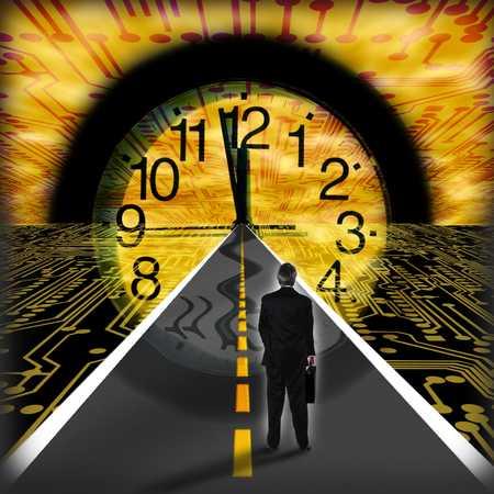 Man On Road/Clock