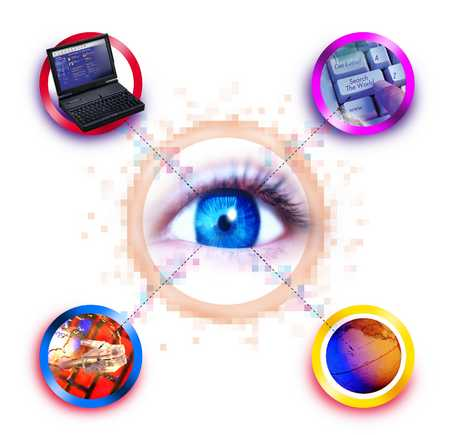 Eye Looking At Technology