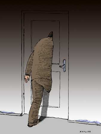 Passing Though Door