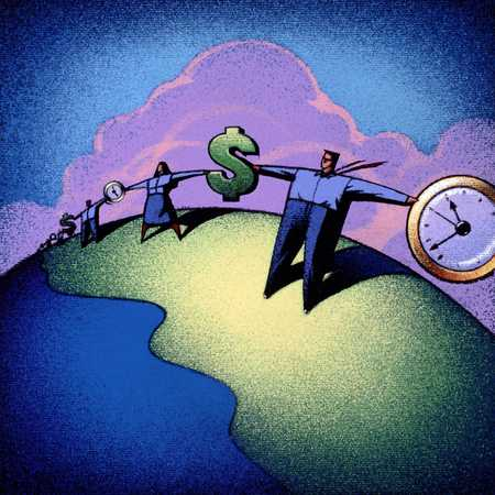 People Linked By Money And Time