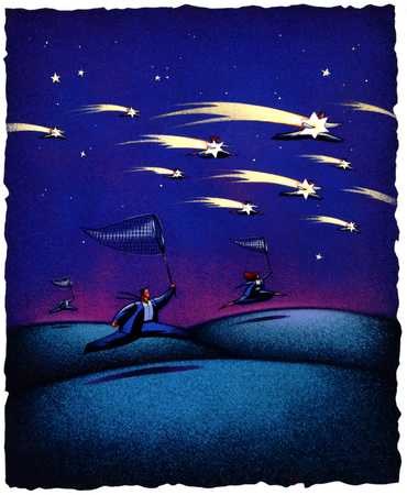 Figures In Pursuit Of Shooting Stars