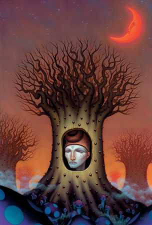Face Inside Of Tree