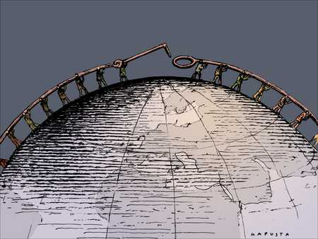 Figures Enclosing Globe