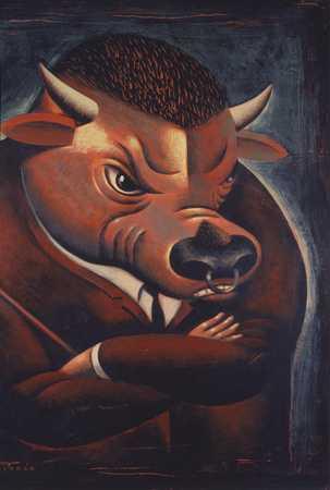 Bull In Suit