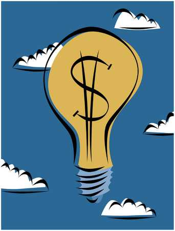 Dollar Sign Light Bulb