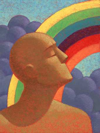 Man And Rainbow