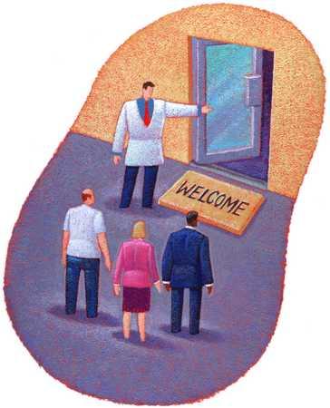 Doctor With Open Door