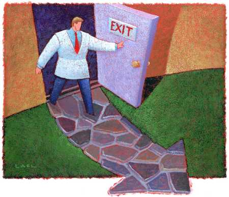 Doctor Exiting Door