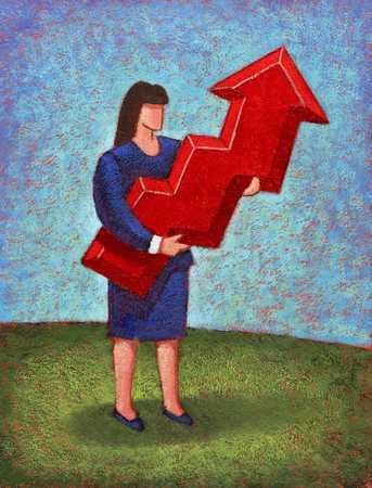 Businesswoman With Upward Arrow