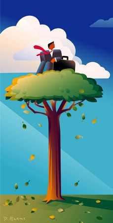Treetop Businessman