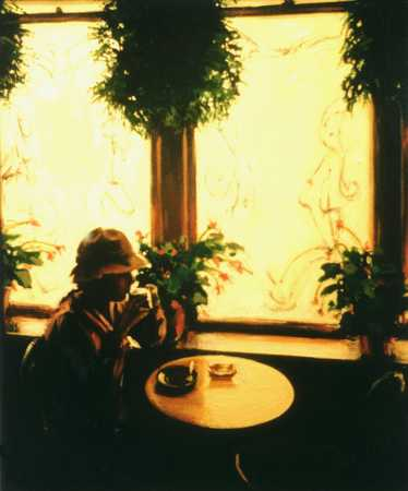 Solitary Figure Sitting At Table