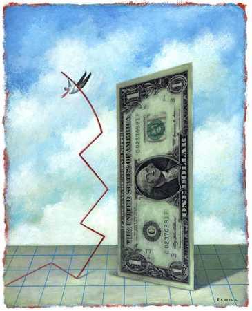 Man Attempting To Vault Over Finances