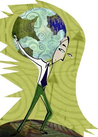 Man Carrying The Weight Of The World