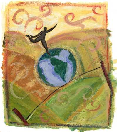 Balancing On the Globe