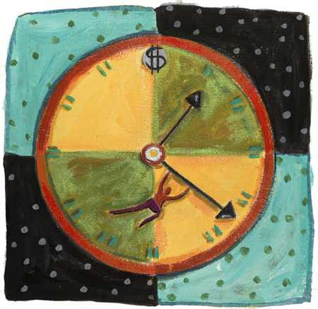 Figure On Dollar Clock