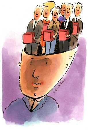 Head Filled with Businesspeople