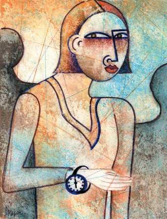 Woman With Wristwatch
