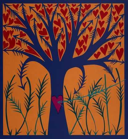Arrow Tree With Hearts