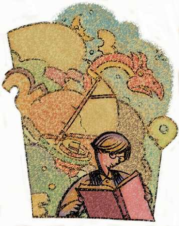 Child Reading/ Imagination