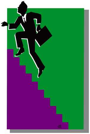 Businessman Ascending Stairs