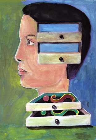 Woman with drawers