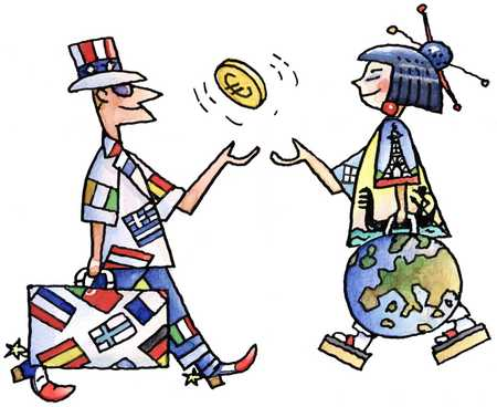International People Trade with the Euro