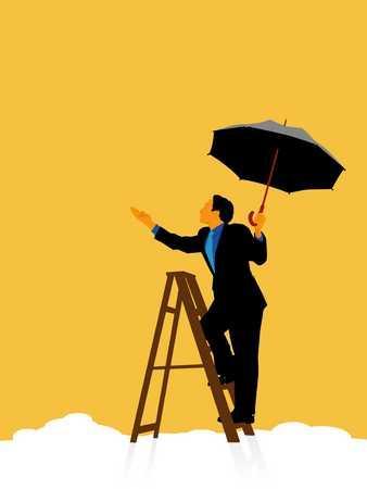 Ladder And Umbrella