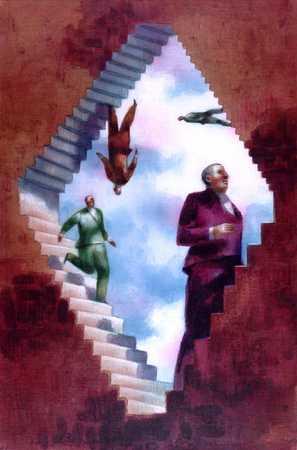 Men Climbing Stairs