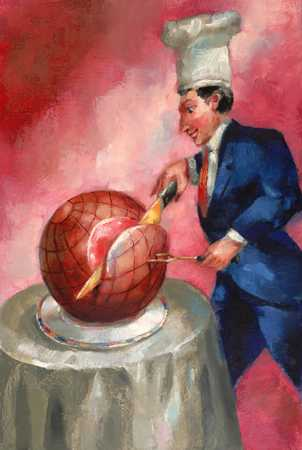 Man Carving Globe