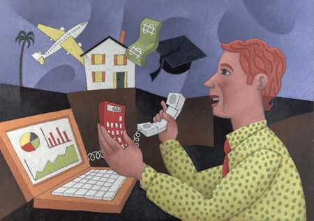 Man Planning Finances
