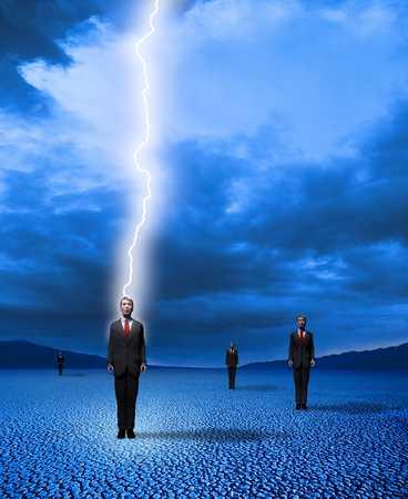 Businessman Struck by Lightening