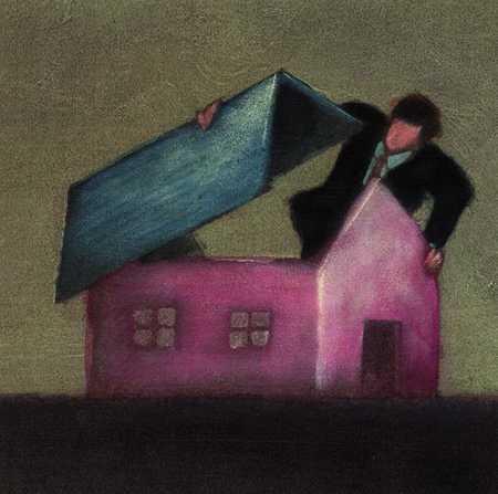 Businessman Looking In Building