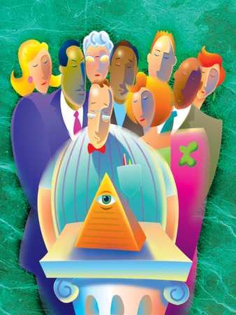 Group Examines Pyramid