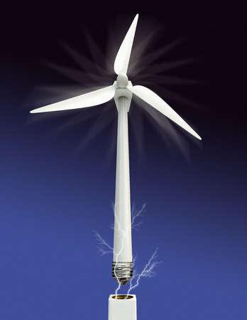 Sparks emitting from wind turbine light bulb