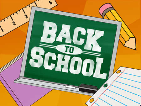 Stock Illustration Back To School On Blackboard