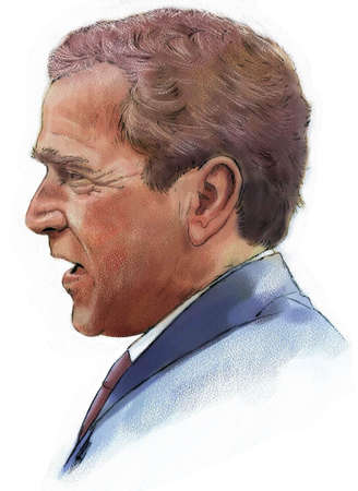 Illustration of George W. Bush