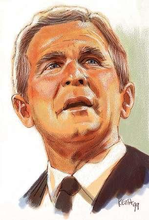 Illustration of George W. Bush