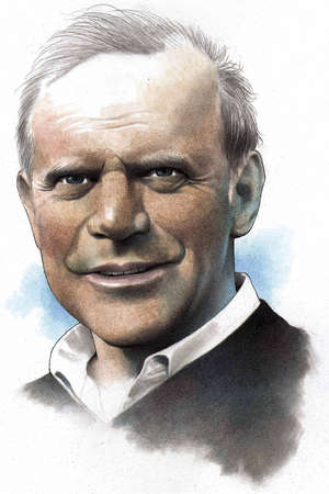Portrait of Kary Mullis, the chemist who recieved a Nobel prize for inventing the PCR (polymerase chain reaction) DNA test